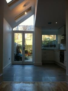 Kitchen extension - Victorian terrace house Bow